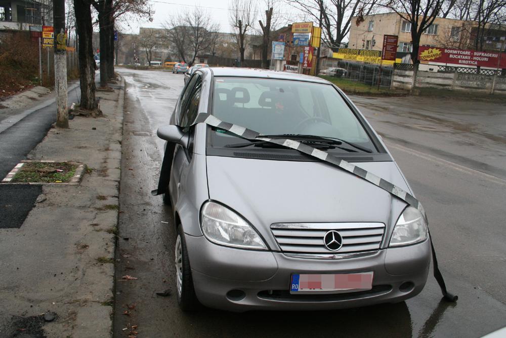 Autoturism neinmatriculat  pe straƒzile din Tulcea