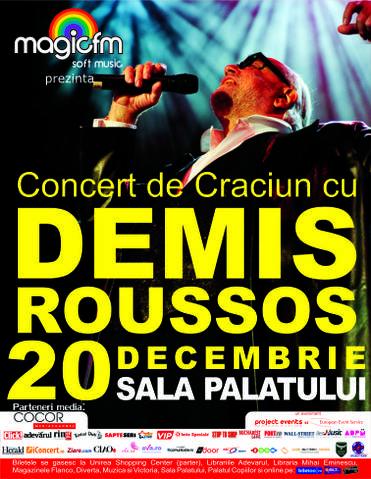 Concert de Craciun cu DEMIS ROUSSOS!