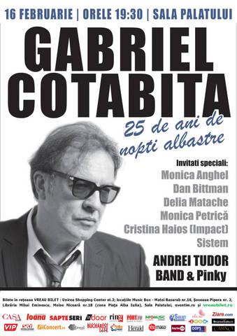 """Gabriel Cotabita petrece o """"Noapte albastra"""" alaturi de prietenii sai"""
