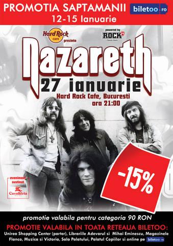 Concert NAZARETH la Hard Rock Cafe – bilete reduse!