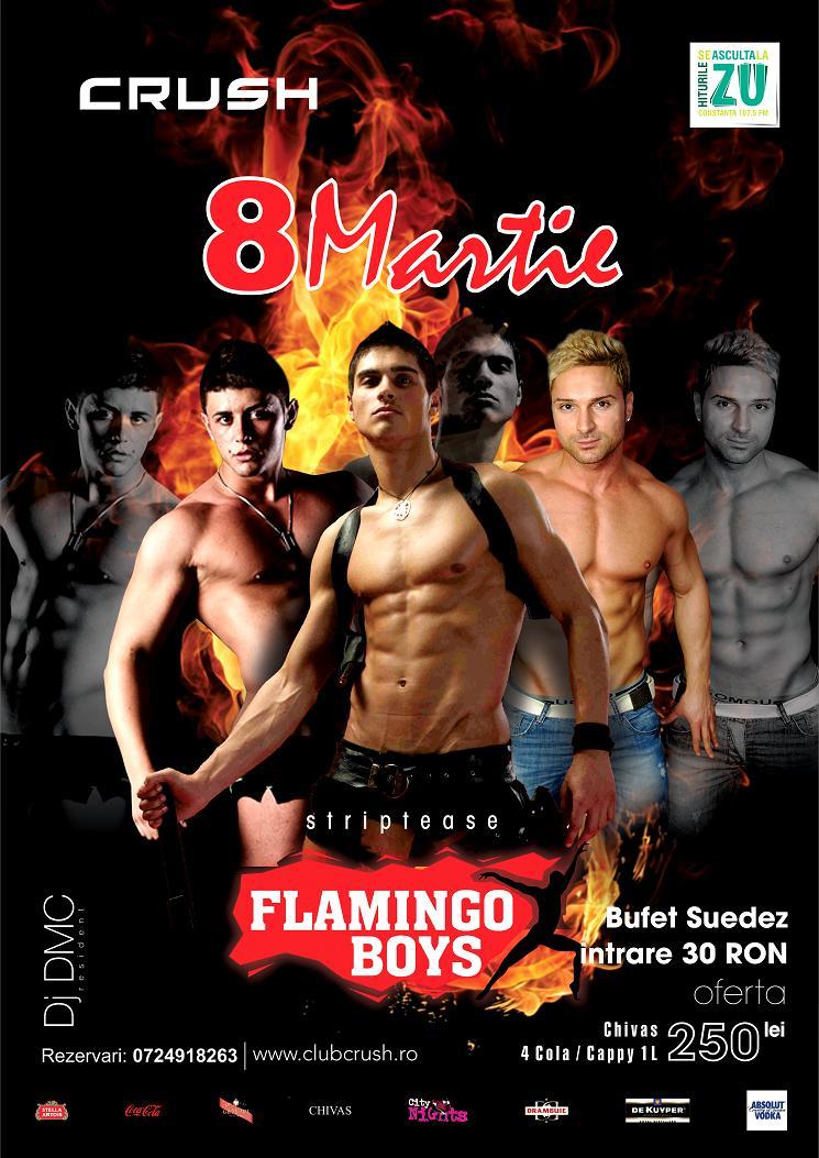 Flamingo Boys, spectacol incendiar de 8 martie