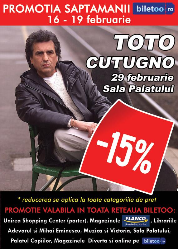 """Promotie la biletele pt concertul """"TOTO CUTUGNO""""!"""