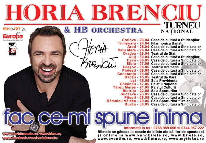 """Horia Brenciu si HB Orchestra in Turneul """"Fac ce-mi spune inima"""""""