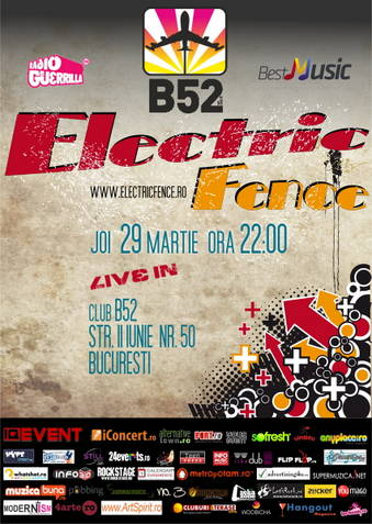 Concert Electric Fence live @ B52 Club Bucuresti 29 martie 2012