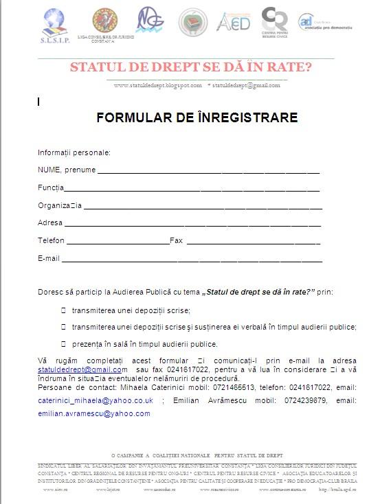 Statul de drept - chemare la actiune 21 martie 2012