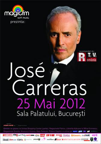 José Carreras si invitatii sai speciali David Gimenez si Nataliya Kovalova vin in Romania