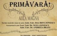 """Concert """" Ramas Bun, Primavara"""" la Universitatea Ovidius din Constanta"""