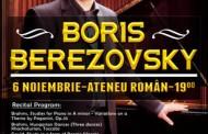 Pianistul rus Boris Berezovsky are propriul meniu in Romania!