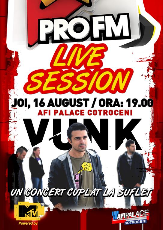 Vunk – trupa ce va canta la urmatoarea editie ProFM Live Session!