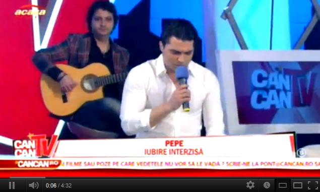 """Pepe a cantat in premiera """"Iubire Interzisa"""", primul single extras de pe urmatorul album"""