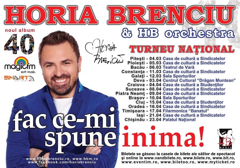"""Horia Brenciu se pregăteşte de turneul naţional """"Fac ce-mi spune inima"""" Nu rata noul show!"""