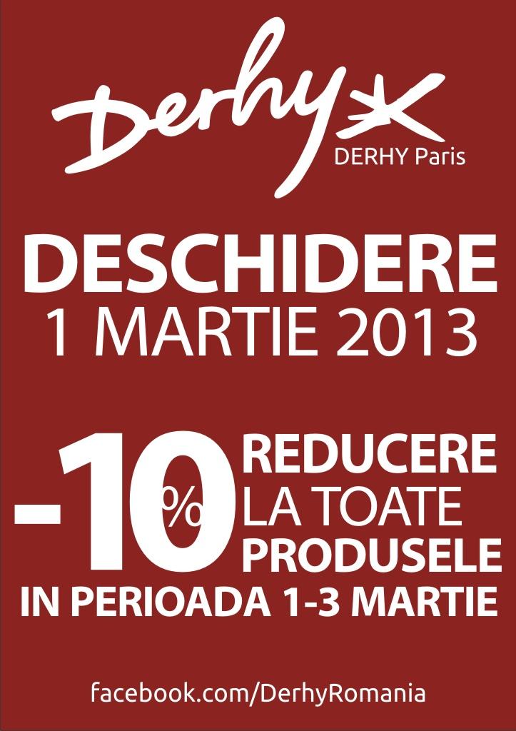 Brandul francez Derhy isi deschide primul magazin din Romania in City Park Mall Constanta!