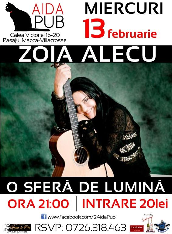 "Zoia Alecu – ""O sfera de lumina"", la Aida Pub"