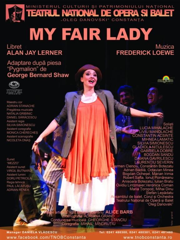 My Fair Lady pe scena Teatrului National de Opera si Balet Oleg Danovski