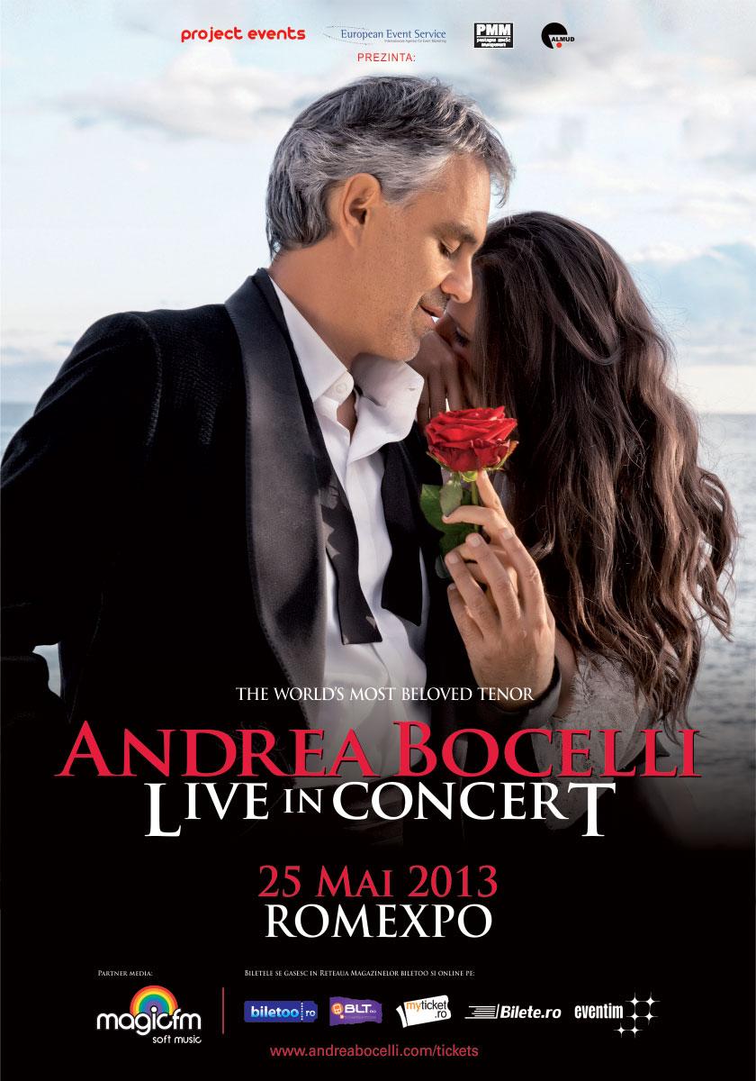 ANDREA BOCELLI anunta invitatii sai pentru concertul de la Romexpo!