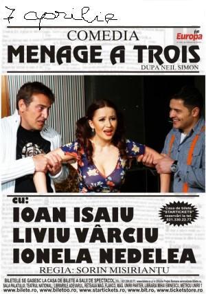 """Menage a trois"" pe scena Casei de Cultura din Constanta"