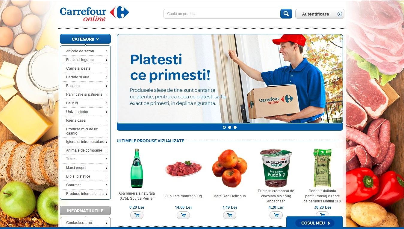Carrefour România anunță lansarea primului său magazin online