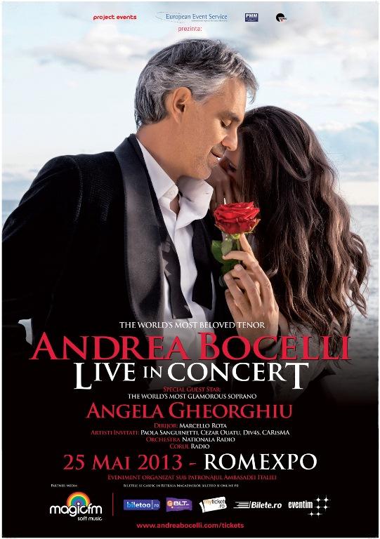 Reguli de acces si recomandari pentru concertul ANDREA BOCELLI