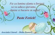 Asociatiei Litoral – Delta Dunarii – Un Paste Fericit!