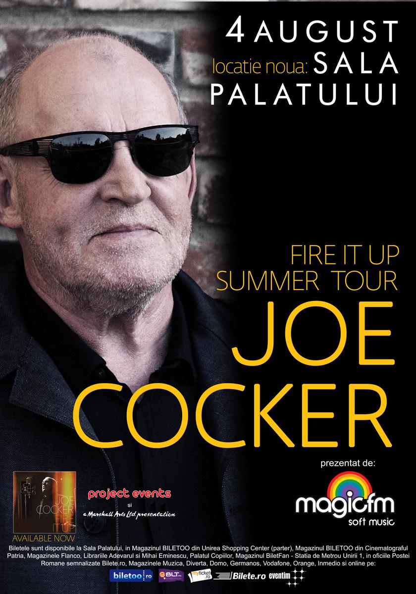 Concertul JOE COCKER se muta la Sala Palatului!
