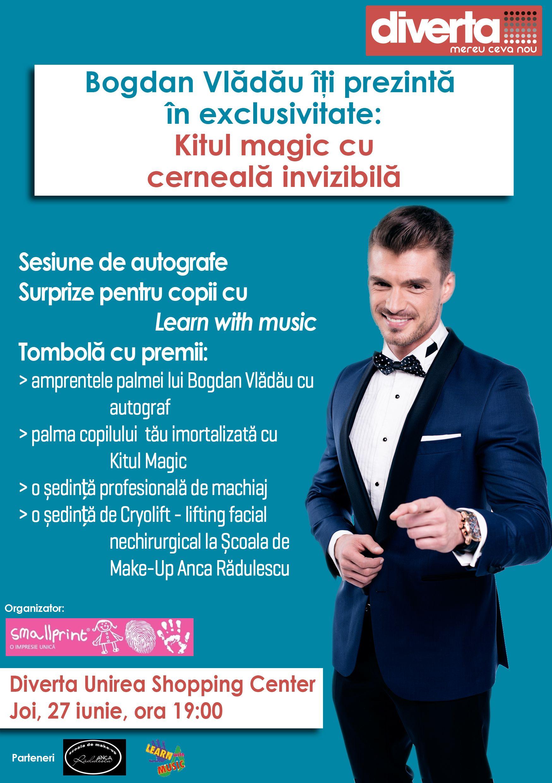 Bogdan Vlădău își donează amprenta în scop caritabil