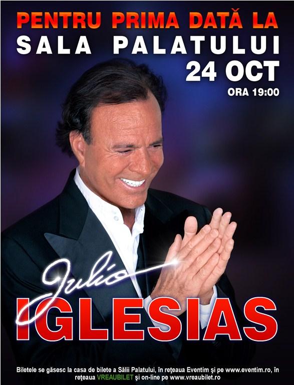 Julio Iglesias concertează pentru prima dată  într-o sală de spectacol din România
