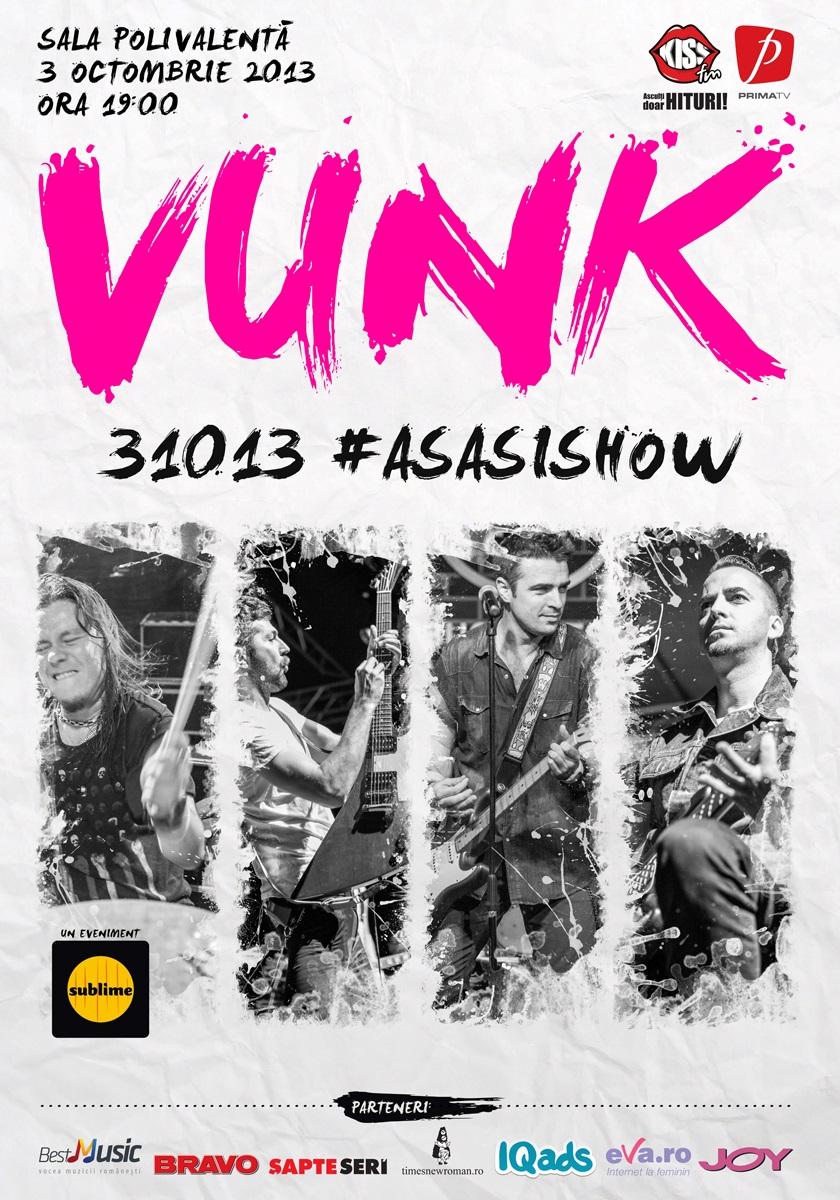 S-au pus in vanzare biletele pentru concertul VUNK din octombrie!