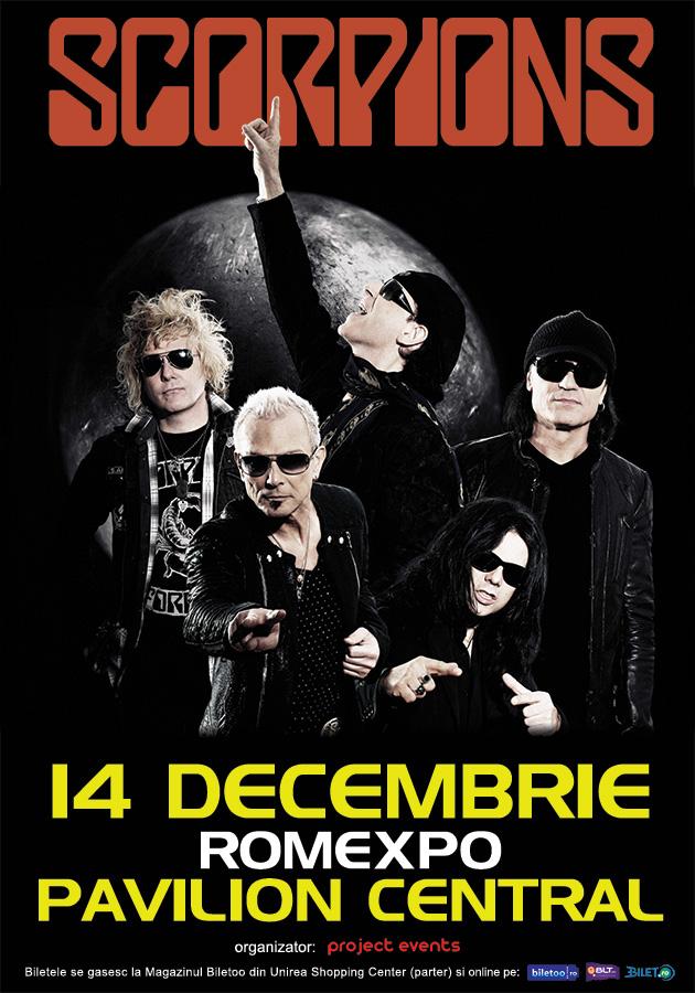 Trupa Scorpions revine la Bucuresti!