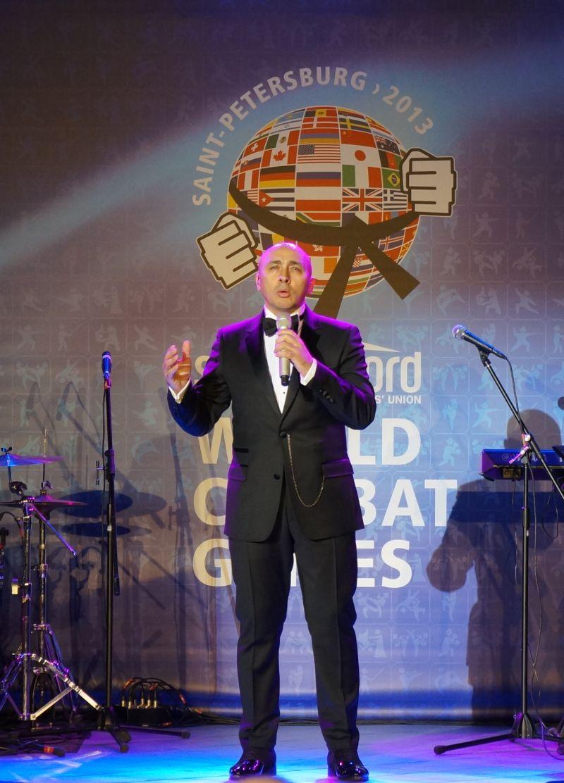 Marcel Pavel a cântat în deschiderea Jocurilor SportAccord World  Combat Games de la Sankt Petersburg!
