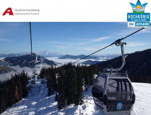 Prima telegondolă din Austria dotată cu internet wireless este pusă în funcțiune în regiunea de schi