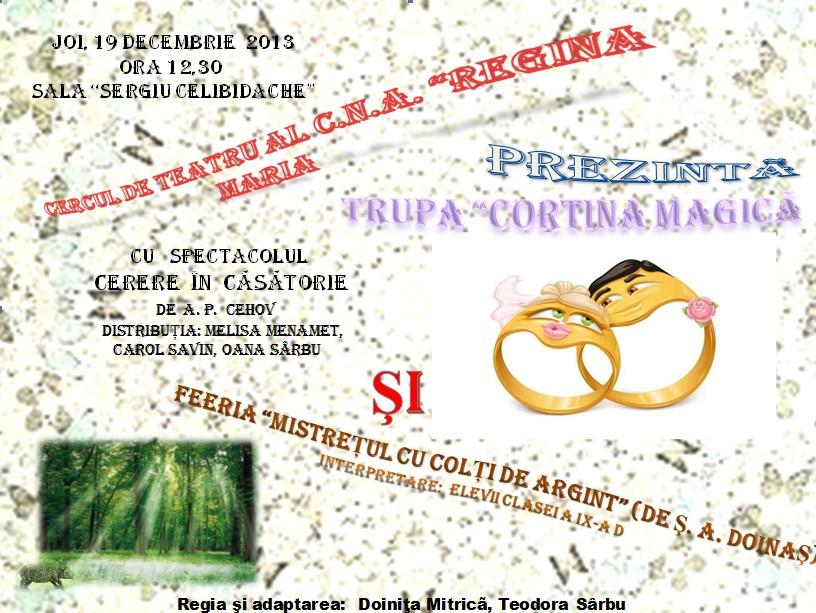 Spectacol de teatru la Colegiul Național de Arte ,,Regina Maria'' Constanta