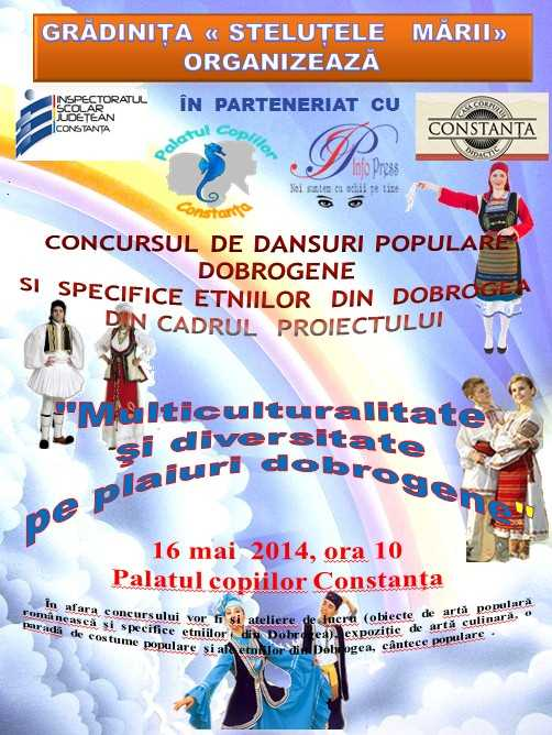 Concursul de dansuri populare dobrogene si ale etniilor din dobrogea gata de start!