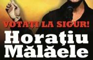 """Nu candideaza, dar mizeaza pe cel mai sigut vot. Pe 24 mai, Horatiu Malaele isi rasplateste sustinatorii cu spectacolul """"Sunt un orb"""" la Cinema Patria."""