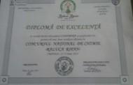 Diplomă de Excelenţă pentru elevii și profesorii  din  Constanța