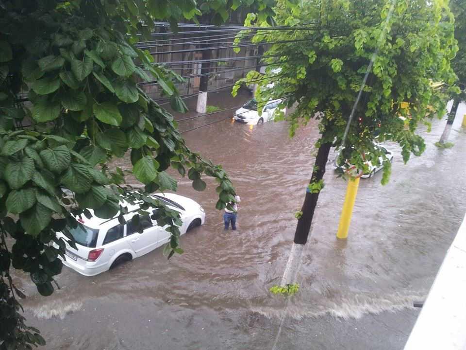 Ploaia a facut ravagii in Constanta