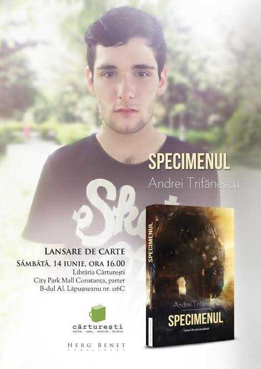 Lansarea romanului Specimenul la Carturesti Constanta