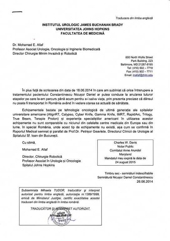 Uite care este situatia medicala a presedintelui CJ Constanta, Nicusor Constantinescu