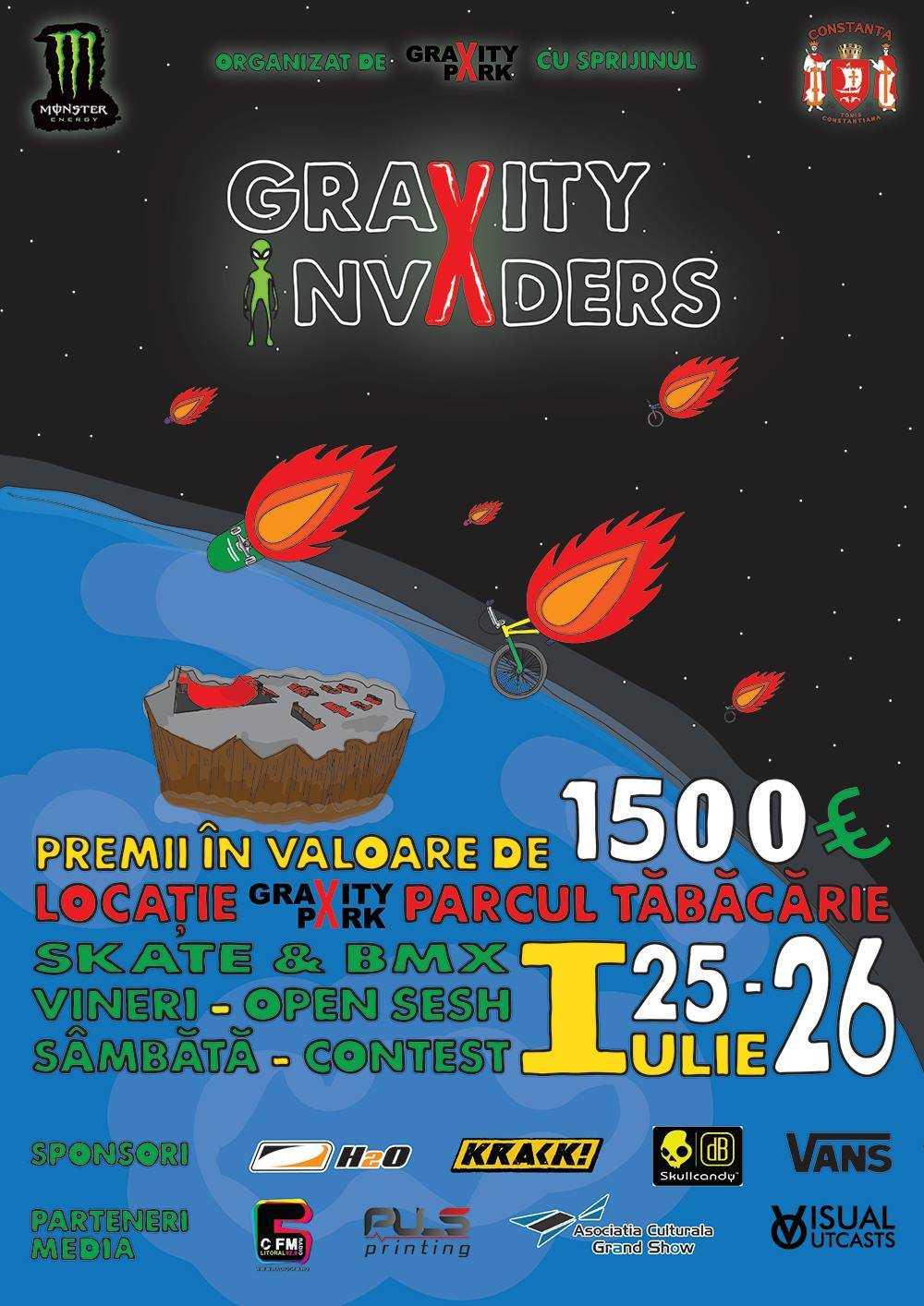 "Gravity Park organizeaza concursul national de sporturi extreme ""Gravity Invaders"""