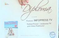 InfopressTv Romania a castigat Trofeul la Targul de carte Gaudeamus