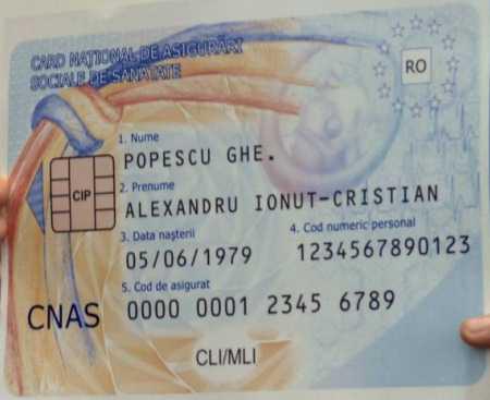 Cardul naţional de sănătate va fi distribuit prin poștă
