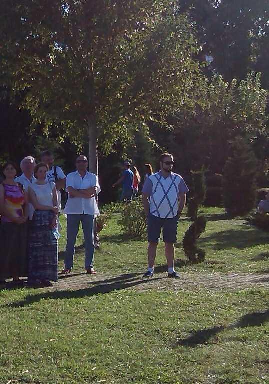 Actorul Geo Dobre alaturi de elevii sai la Festivalul Antic Tomis