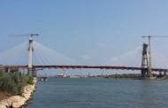 S-a finalizat montajul tablierului metalic la podul la km 0+540 al Canalului Dunăre – Marea Neagră.