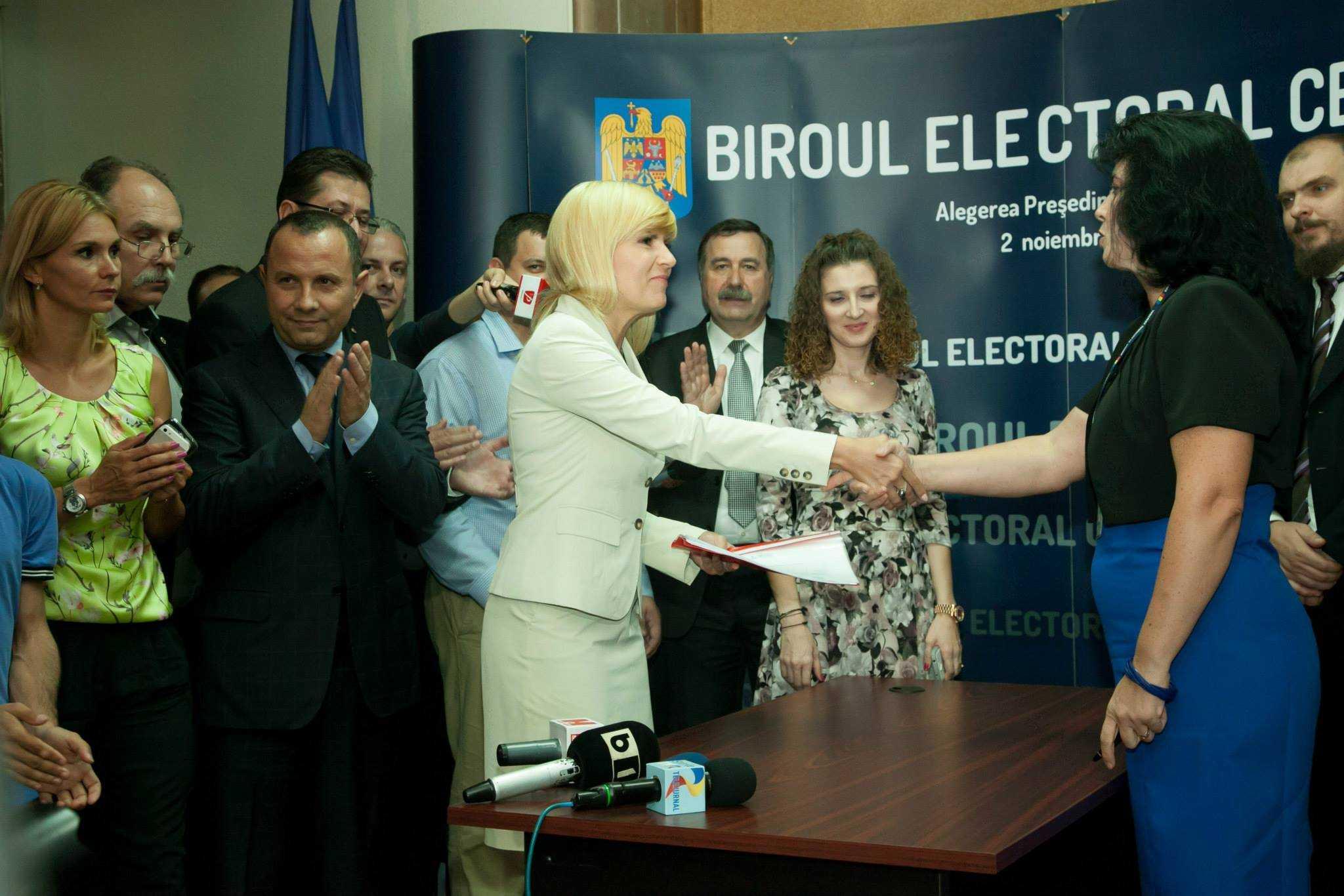 Elena Udrea si-a depus astazi candidatura pentru Presedintia Romaniei
