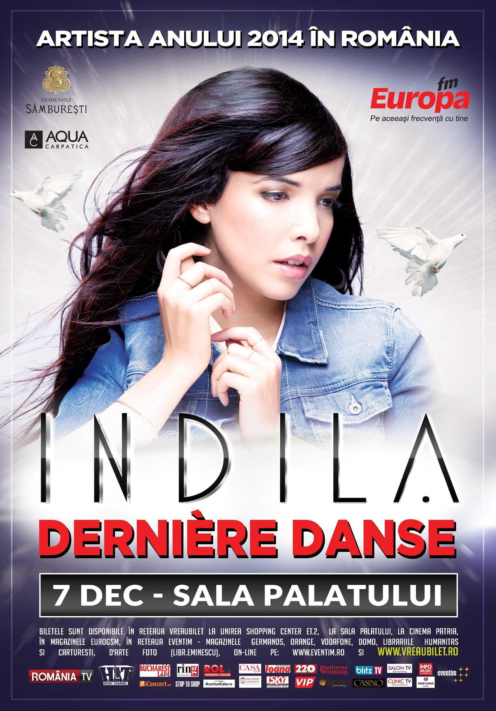 Inca un concert Indila la Bucuresti