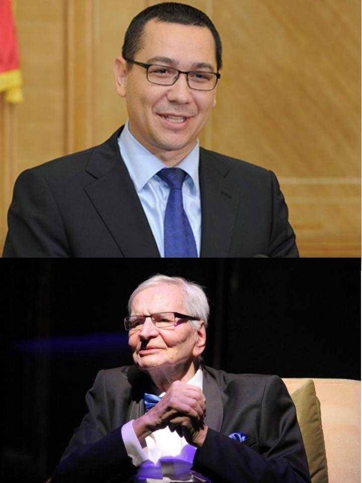 Victor Ponta sustinut de Radu Beligan