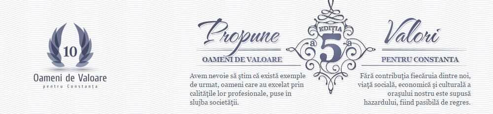 """Gala """"Zece oameni de valoare pentru Constanta"""" va avea loc la Casa de Cultura"""