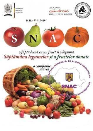 """""""Săptămâna legumelor şi a fructelor donate"""", ediţia a VI-a"""