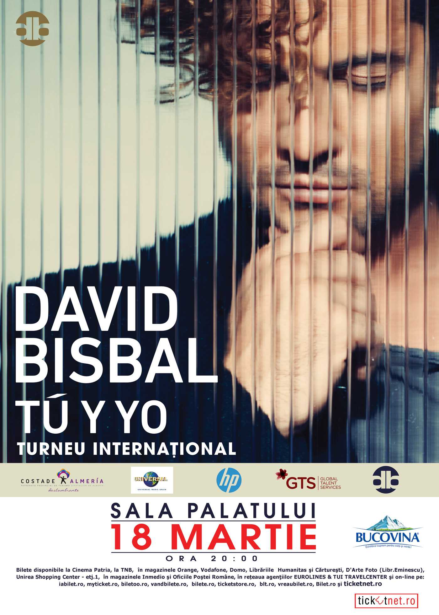 David Bisbal revine in concert la Bucuresti