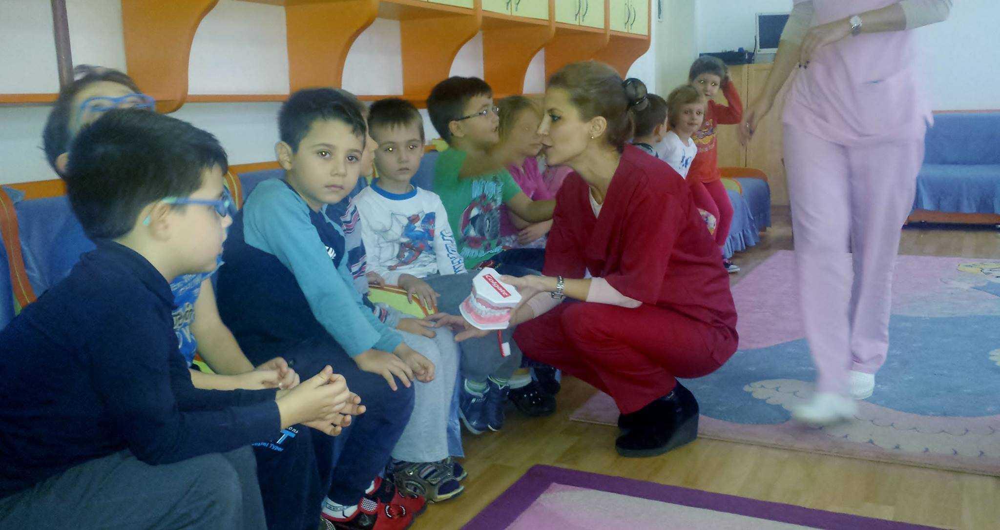 Prescolarii Gradinitei 44 Constanta au avut intalnire cu medicul stomatolog