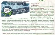 Universitatea Ovidius Constanta lanseaza un  program de anticoruptie